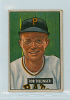 1951 Bowman Baseball 63 Bob Dillinger Pittsburgh Pirates Good to Very Good