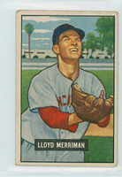 1951 Bowman Baseball 72 Lloyd Merriman Cincinnati Reds Good to Very Good
