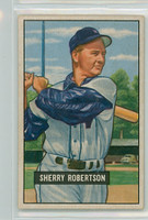 1951 Bowman Baseball 95 Sherry Robertson Washington Senators Very Good to Excellent