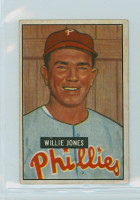 1951 Bowman Baseball 112 Willie Jones Philadelphia Phillies Very Good to Excellent