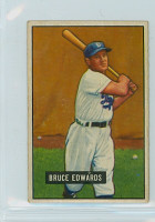 1951 Bowman Baseball 116 Bruce Edwards Brooklyn Dodgers Very Good