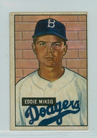 1951 Bowman Baseball 117 Eddie Miksis Brooklyn Dodgers Very Good