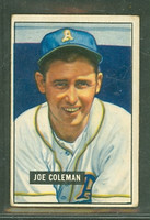1951 Bowman Baseball 120 Joe Coleman Philadelphia Athletics Good to Very Good