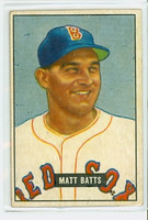 1951 Bowman Baseball 129 Matt Batts Boston Red Sox Very Good to Excellent