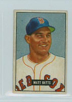 1951 Bowman Baseball 129 Matt Batts Boston Red Sox Excellent to Mint
