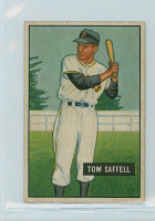 1951 Bowman Baseball 130 Tom Saffell Pittsburgh Pirates Excellent