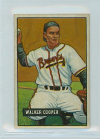 1951 Bowman Baseball 135 Walker Cooper Boston Braves Excellent