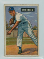 1951 Bowman Baseball 155 Lou Brissie Cleveland Indians Very Good
