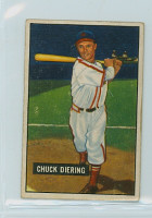 1951 Bowman Baseball 158 Chuck Diering St. Louis Cardinals Very Good to Excellent