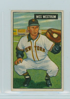 1951 Bowman Baseball 161 Wes Westrum New York Giants Very Good to Excellent