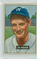 1951 Bowman Baseball 169 Sid Hudson Washington Senators Excellent