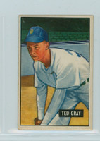 1951 Bowman Baseball 178 Ted Gray Detroit Tigers Very Good