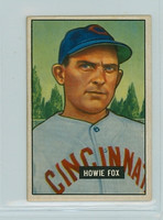 1951 Bowman Baseball 180 Howie Fox Cincinnati Reds Very Good to Excellent
