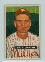 1951 Bowman Baseball 185 Jimmy Bloodworth Philadelphia Phillies Very Good