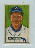 1951 Bowman Baseball 191 Billy Hitchcock Philadelphia Athletics Very Good