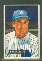 1951 Bowman Baseball 205 Mickey Grasso Washington Senators Very Good