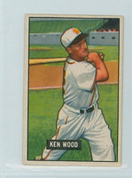 1951 Bowman Baseball 209 Ken Wood St. Louis Browns Very Good
