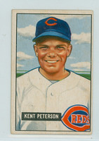 1951 Bowman Baseball 215 Kent Peterson Cincinnati Reds Good to Very Good