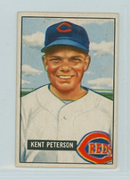 1951 Bowman Baseball 215 Kent Peterson Cincinnati Reds Very Good