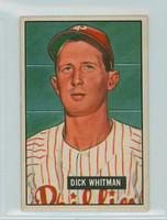 1951 Bowman Baseball 221 Dick Whitman Philadelphia Phillies Very Good to Excellent