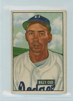 1951 Bowman Baseball 224 Billy Cox Brooklyn Dodgers Very Good