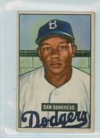 1951 Bowman Baseball 225 Dan Bankhead ROOKIE Brooklyn Dodgers Fair to Good