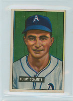 1951 Bowman Baseball 227 Bobby Shantz Philadelphia Athletics Excellent to Mint