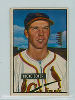 1951 Bowman Baseball 228 Cloyd Boyer ROOKIE St. Louis Cardinals Excellent