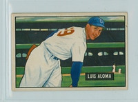 1951 Bowman Baseball 231 Luis Aloma Chicago White Sox Very Good