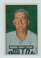 1951 Bowman Baseball 236 Buddy Rosar Boston Red Sox Good to Very Good
