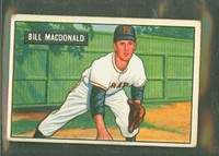 1951 Bowman Baseball 239 Bill MacDonald Pittsburgh Pirates Very Good