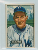 1951 Bowman Baseball 240 Joe Haynes Washington Senators Very Good