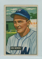 1951 Bowman Baseball 241 Irv Noren Washington Senators Very Good