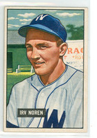 1951 Bowman Baseball 241 Irv Noren Washington Senators Excellent to Excellent Plus