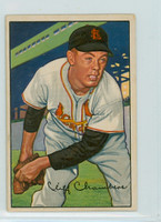 1952 Bowman Baseball 14 Cliff Chambers St. Louis Cardinals Very Good to Excellent