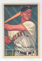 1952 Bowman Baseball 18 Don Mueller New York Giants Excellent