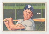 1952 Bowman Baseball 63 Irv Noren Washington Senators Excellent