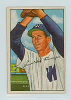 1952 Bowman Baseball 143 Sandy Consuegra Washington Senators Very Good to Excellent