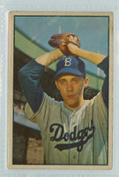 1953 Bowman Color Baseball 14 Billy Loes Brooklyn Dodgers Good to Very Good