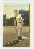 1953 Bowman Color Baseball 128 Whitey Lockman Tough Series New York Giants Good to Very Good