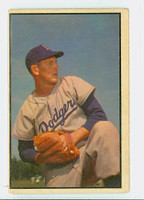 1953 Bowman Color Baseball 129 Russ Meyer High Number Brooklyn Dodgers Good to Very Good