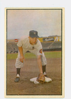 1953 Bowman Color Baseball 136 Jim Brideweser High Number New York Yankees Very Good