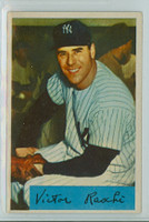 1954 Bowman Baseball 33 Vic Raschi NO TRADE  New York Yankees Excellent to Mint