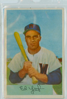 1954 Bowman Baseball 72 Ed Yost Washington Senators Excellent
