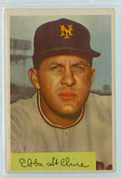 1954 Bowman Baseball 128 Ebba St. Claire New York Giants Very Good to Excellent