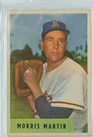 1954 Bowman Baseball 179 b Morris Martin 444 ERA  Kansas City Athletics Very Good
