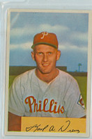 1954 Bowman Baseball 191 Karl Drews Philadelphia Phillies Excellent to Excellent Plus