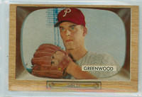 1955 Bowman Baseball 42 Bob Greenwood Philadelphia Phillies Near-Mint Plus
