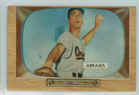 1955 Bowman Baseball 55 Cal Abrams Baltimore Orioles Excellent to Mint