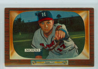 1955 Bowman Baseball 72 Chet Nichols Milwaukee Braves Excellent
